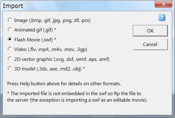 Convert Swf Flash to Html5 using KoolMoves