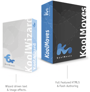 Koolmoves and Koolwizard animation software boxes