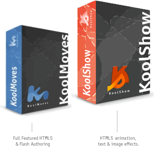 Koolmoves and Koolshow animation software boxes