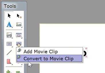 put text object inside a movie clip